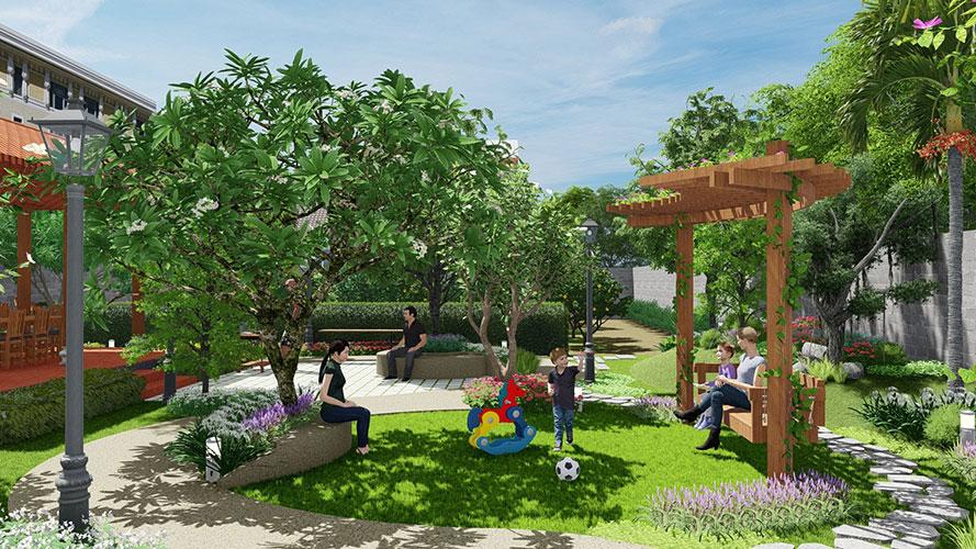 Cây Xanh Athena - Công ty thiết kế và thi công cảnh quan sân vườn tại Tp.HCM