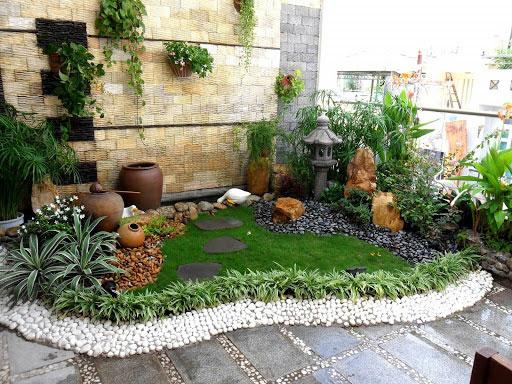 Xu hướng thiết kế sân vườn với tiểu cảnh khô