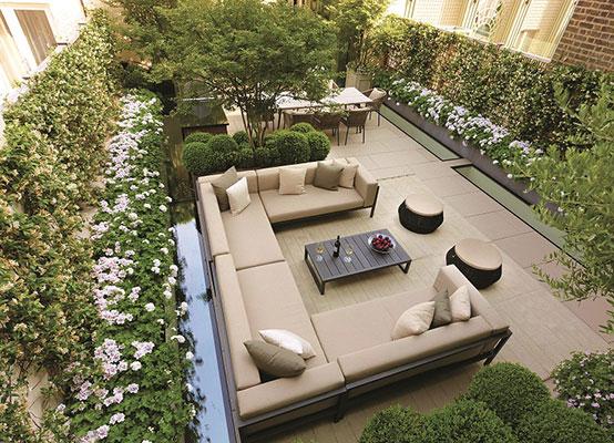 Xu hướng thiết kế sân vườn với chỗ ngồi thoải mải