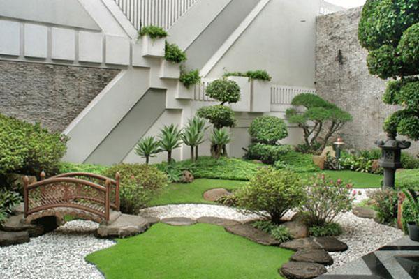 Xu hướng thiết kế sân vườn với tiểu cảnh đồi cây