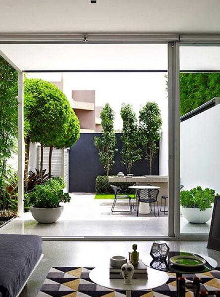 Thiết kế sân vườn cho nhà ống trước nhà