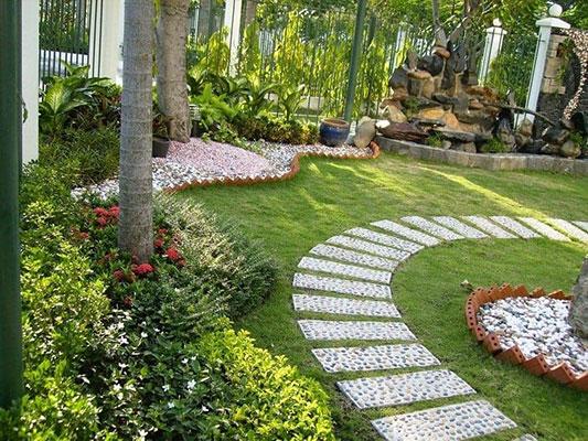 Thiết kế sân vườn trước nhà theo phong cách Châu Âu