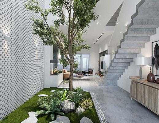 Thiết kế cây xanh trong nhà