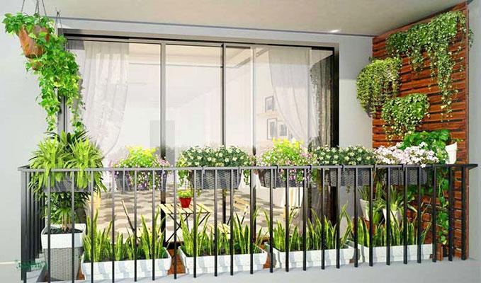 Thiết kế cây xanh trong nhà chung cư